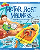 POOF-Slinky - Scientific Explorer Motor Boat Madness and Sonic Electronics Kit with Toy Boat and Electric Bell, 16-Activities, 0SA301