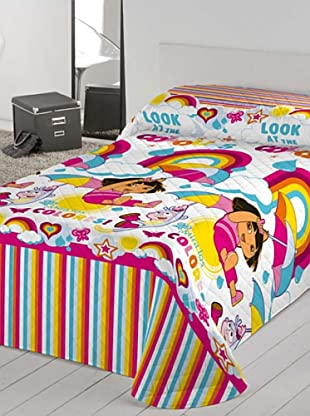 Euromoda Colcha Bouti Dora Rainbow (Rosa / Fucsia)