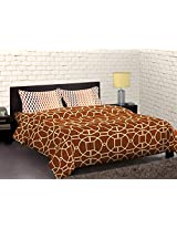 Portico New York Cadence Abstract Double Bedsheet with 2 Pillow Covers - Queen Size, Multicolor (9043561)