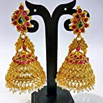 Gold plated earring with big jhumka
