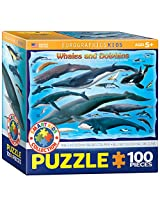 EuroGraphics Whales and Dolphins Jigsaw Puzzle (100-Piece)