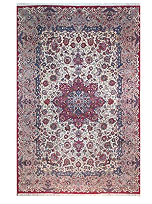 The Rug Market Esfahan Khar Rug, Red/Blue/Ivory, 8' 4