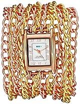 La Mer Collections Women's LMACW5000 Analog Display Japanese Quartz Rose Gold Watch