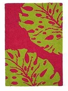 Trina Turk New Leaf Hook Rug (Green/Pink)