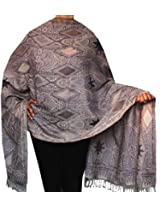 Indian Shawl Wraps Wool Womens Indian Clothes (80 x 28 inches)