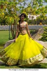 Bollywood Replica Model Net Lehenga In Neon Yellow Colour NC738
