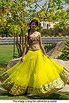 Bollywood Replica Model Net Lehenga In Neon Yellow Colour NC738