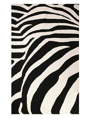 Peking Handicraft Zebra Rug (Black/White)