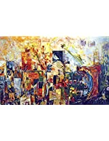 Faim Paintings Abstract Art Discover Canvas Print 35x22 Frameless