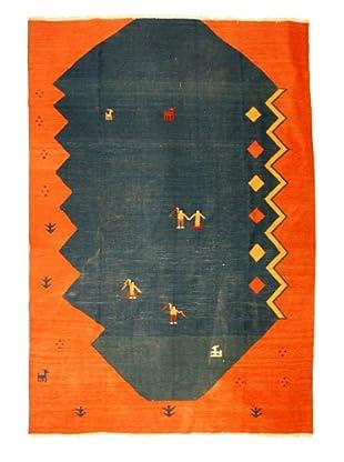 Kilim Rug, Blue/Orange