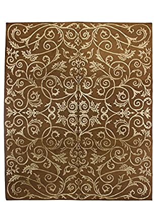 Bashian Rugs One-of-a-Kind Hand Knotted Rug, Chocolate, 8' x 10'