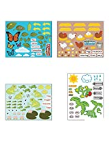 "Life Cycle Sticker Scene Assortment ~ 3 Each Of 4 Life Cycles ~ 11"" X 8 1/2"" ~ New"