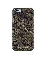 Speck Products CandyShell Inked Jonathan Adler Cell Phone Case for iPhone 6 Plus/6S Plus, MalachiteBlackGold/BerryBlack Metallic