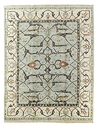Bashian Rugs One-of-a-Kind Hand Knotted Indo-Oushak Rug, Light Blue, 7' 7