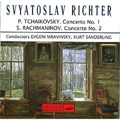 輸入盤CD リヒテル独奏 ラフマニノフ:ピアノ協奏曲第2番&チャイコフスキー:ピアノ協奏曲第1番の商品写真