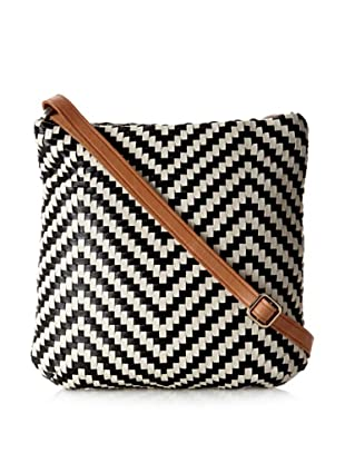Christopher Kon Women's Alisson Cross-Body, Black/Bone