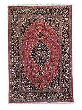 F.J. Kashanian Kashan Hand-Knotted Rug, Pink/Black, 4' 8