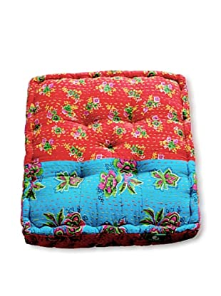 Modelli Creations Cheent Floor Cushion (Red/Blue)