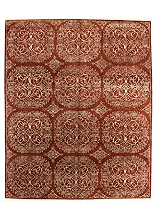 Bashian Rugs One-of-a-Kind Hand Knotted Indo-Oushak Rug, Rust, 8' 2