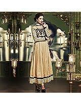 Gold Cotton Silk Anarkali Suit