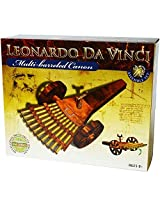 Elenco Leonardo Da Vinci Historic Multi Barreled Cannon Educational Assemble Set Toy Model With Reusable Toy Tote Bag