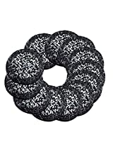 AsiaCraft Black & White Décor Indian Handmade Beaded Coffee, Tea Coaster 4.2 Inches Set of 12