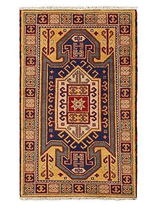 Hand-Knotted Royal Kazak Rug, Light Gold, 3' 1