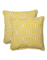 Pillow Perfect Outdoor Starlet Gold Throw Pillow, 18.5-Inch, Set of 2