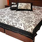 Little India Jaipuri Floral Block Print Cotton Double Bed Cover with 2 Pillow Covers - Multicolor  (DLI3DBS348)