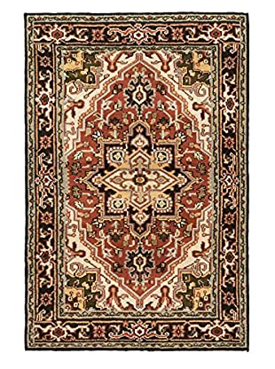 Hand-Knotted Royal Heriz Wool Rug, Copper, 4' x 5' 11