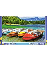 Colorful Boats On The Lake Puzzlebug 500 Piece Jigsaw Puzzle