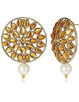 Ava Stud Earrings for Women (Yellow) (E-SD-AQV8)