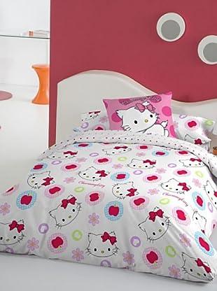 Euromoda Licencias Juego de Fundas Nórdicas Charmmy Kitty Apple (Blanco / Rosa / Rojo)