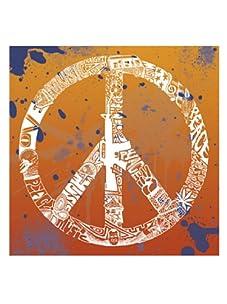 "L.A. Pop Art 20"" x 20"" Peace, Love & Music Print"