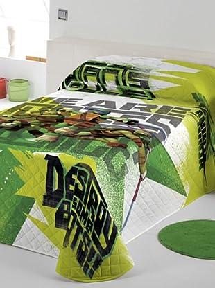 Euromoda Colcha Bouti Tmnt Graffitti (Blanco / Verde)