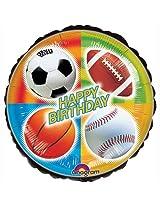 "Anagram International Championship Sports Birthday Balloon, 18"", Multicolor By Anagram International"