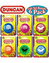 Duncan Yo-Yo Imperial (3) & Butterfly (3) Deluxe Gift Set Bundle - 6 Pack (Assorted Colors)