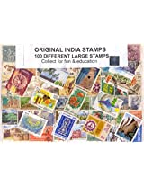 Stamps India Large - 100 Different