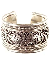 Exotic India Sterling Filigree Ring - Sterling Silver