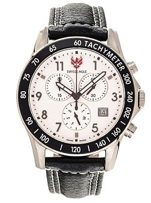 Swiss Eagle Reloj Field Talon blanco / negro