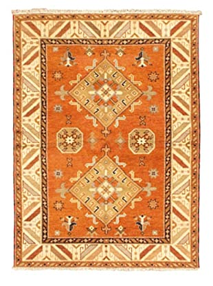 Hand-Knotted Royal Kazak Rug, Orange, 5' 9