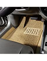 Autofurnish Anti Skid Curly Car Foot Mats (Beige) for Mahindra XUV 500