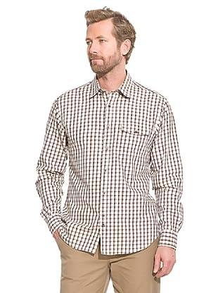 Cortefiel Camisa Vichy (Marrón Oscuro)