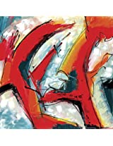 Faim Paintings Abstract Art Indian Red Canvas Print 22x22 Frameless