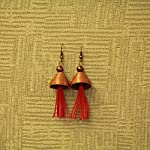 Red Copper Alloy Fashion Jhumki Earring