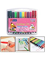 SKYGLORY Triangular Washable Watercolor Marker Pens, 24 Piece Set, Assorted Colors