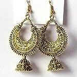Beautiful Oxidised Gold Chandelier Bali Jhumki Earrings