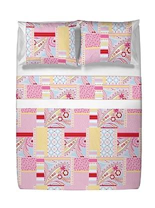 Casual Textil Juego de Sábanas Susipatch (Rosa)