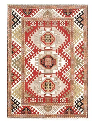 Hand-Knotted Royal Kazak Rug, Pink, 5' 8