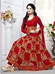 Beautifull Red Heavy Embroidered Anarkali Suit